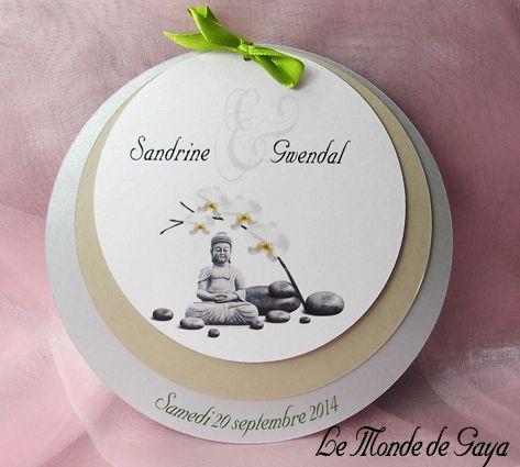 Faire Part 3 Ronds Orchidee Blanche Pour Votre Mariage Bapteme