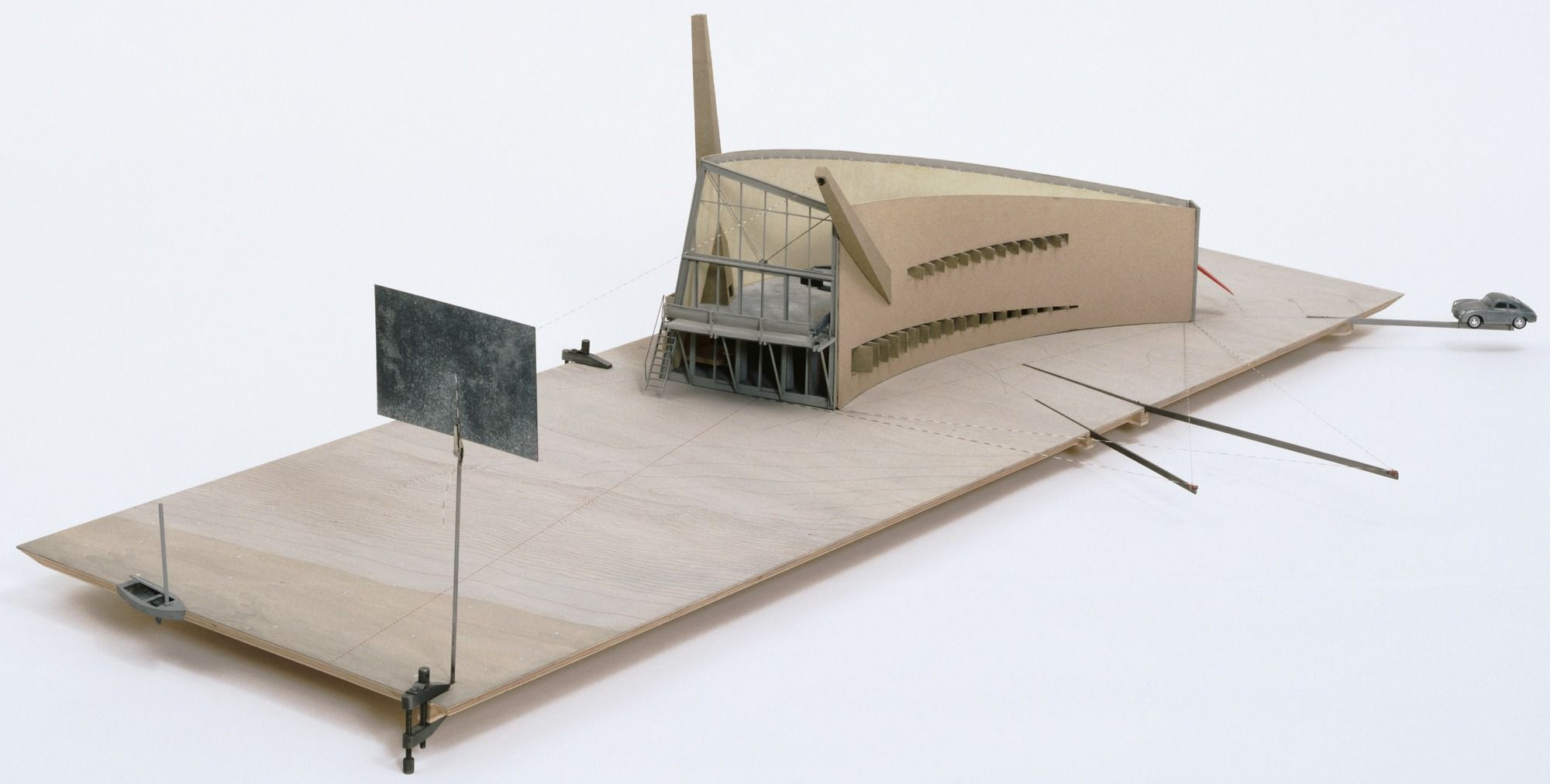 "Elizabeth Diller, Ricardo Scofidio. Slow House Project, North Haven, New York, Scale model 1/4""=1'. 1988-90"