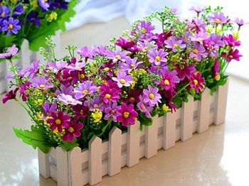 Ball Wooden Fence Combination Package Lavender Daisy Artificial Flowers Silk Flower Dried Fl L In Price On