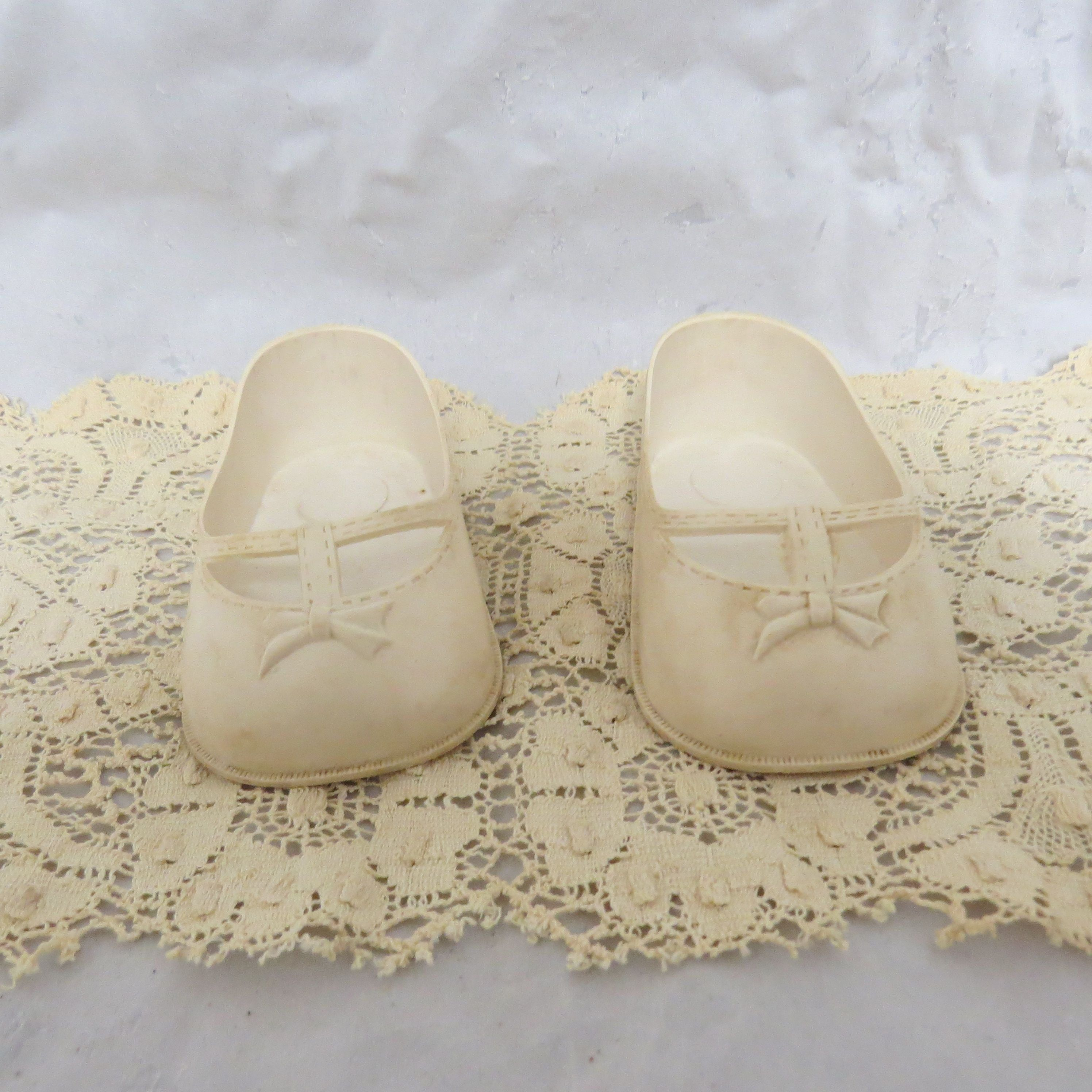 187fc94eb8528 Vintage Large Doll Shoes Plastic Mary Janes SPI Brooklyn New York by ...