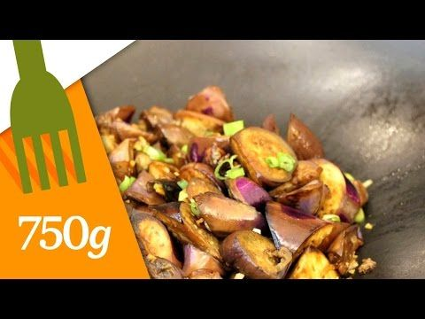 Recette d'Aubergines sautées à la chinoise - 750 Grammes - YouTube
