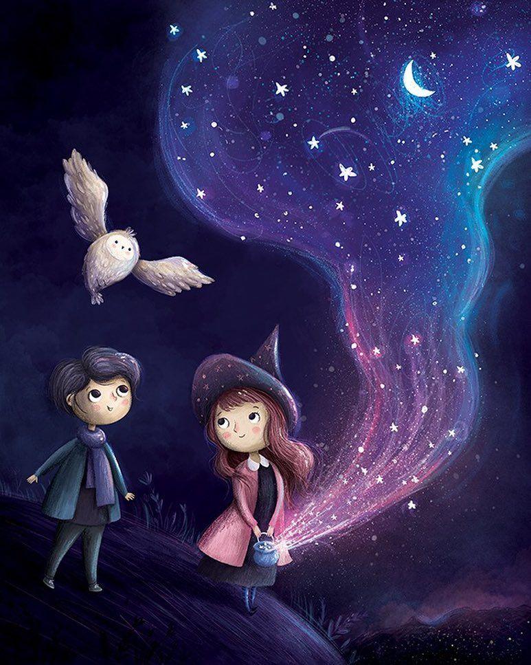 1,366 отметок «Нравится», 42 комментариев — Annaemiliaillustrations (@annaemiliaillustrations) в Instagram: «Magic night #illustrator #illustrateur #illustration #illustrationart #illustration_best…»