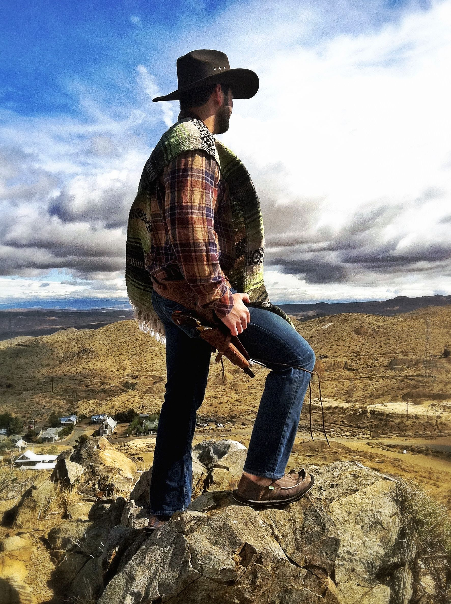 When in Rome, -er the Middle of Nowhere...? On location for Sanukified Western Spoof.