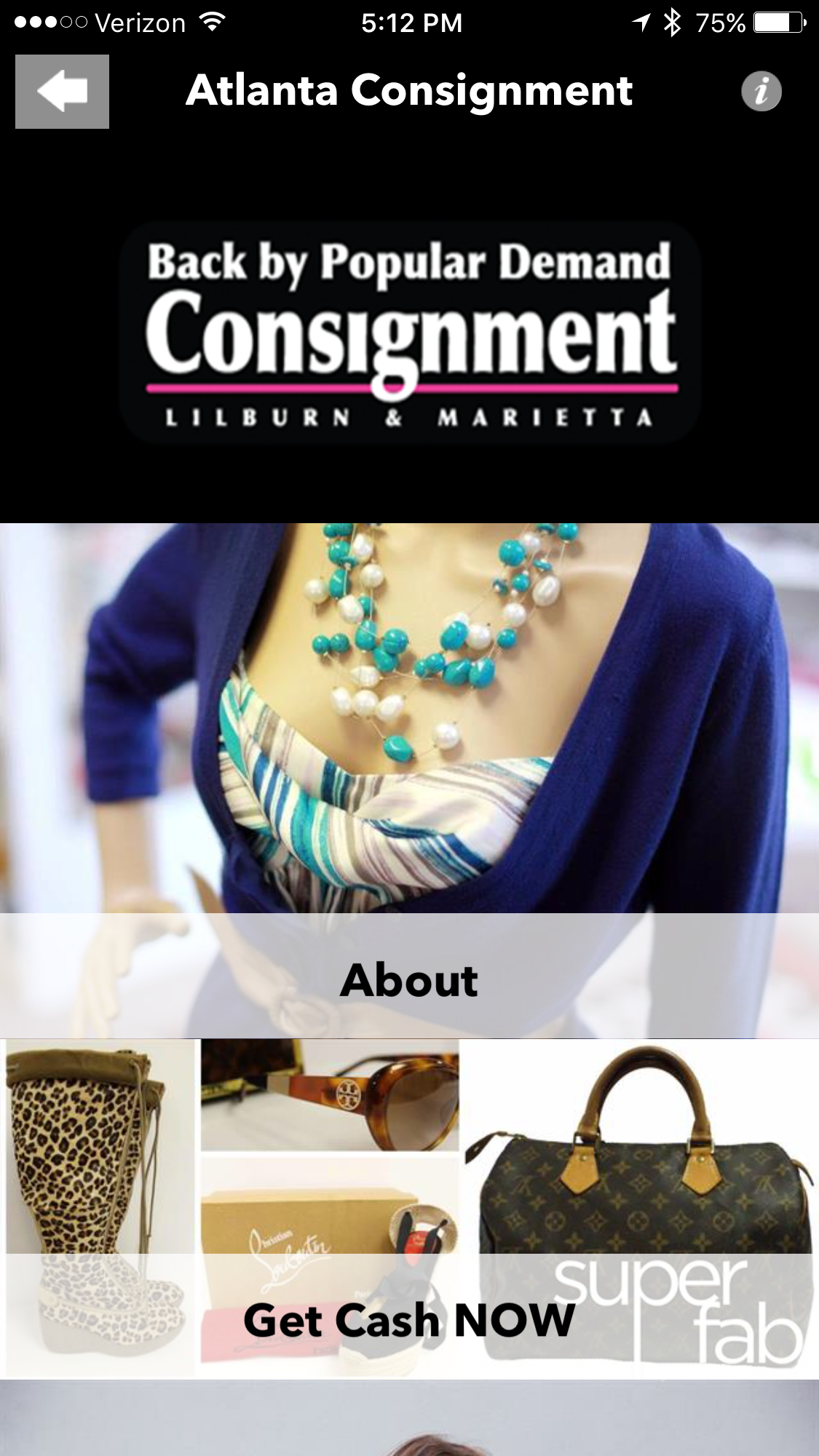 Back By Popular Demand Consignment Store Mobile App