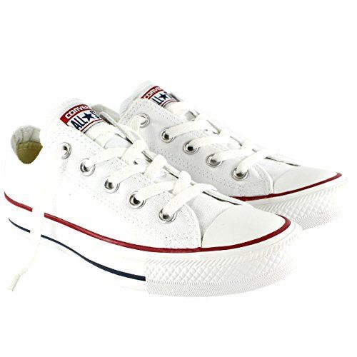 18aa7ce2f9de Converse Unisex Chuck Taylor All Star Low Top Sneakers - Optical White - 11  B(M) US Women   9 D(M) US Men