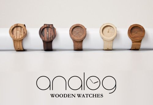 Good wood - 'Analog' wood and leather mix watches by Lorenzo Buffa