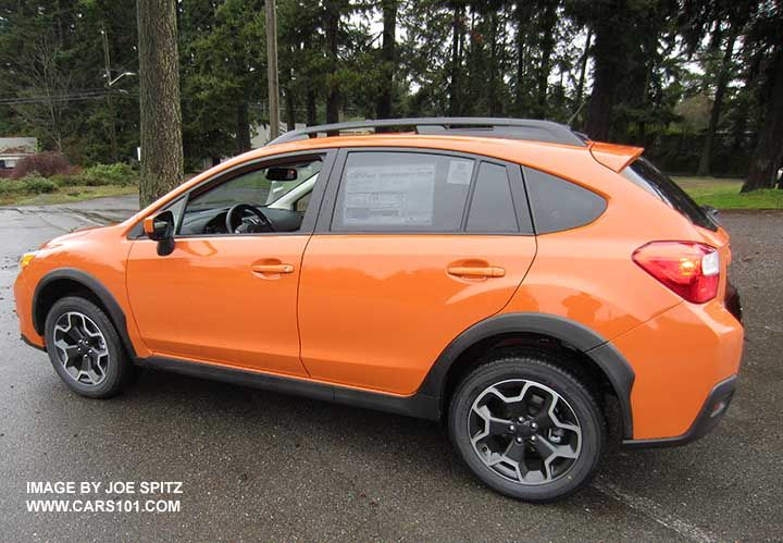 Orange Subaru Crosstrek >> Side View 2015 Subaru Crosstrek Tangerine Orange Color