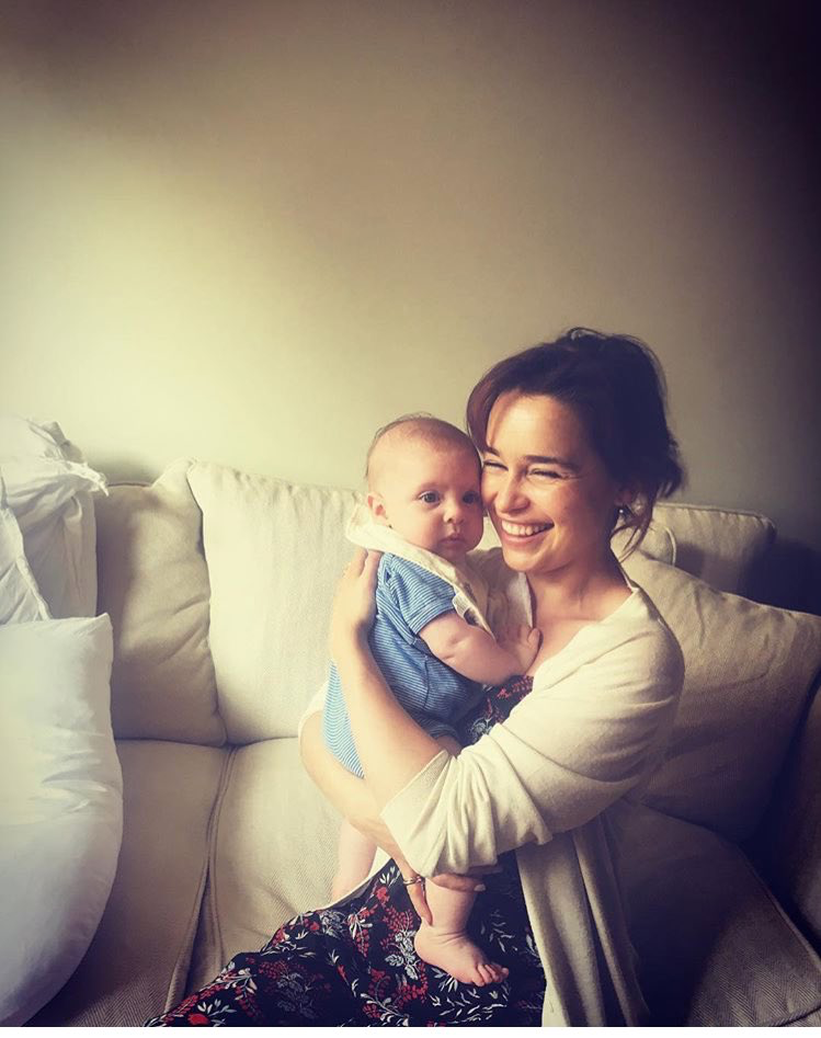 Cutie Emilia Clarke:3 and the baby, but who am I kidding
