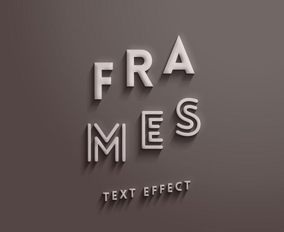 Frames Text Effect