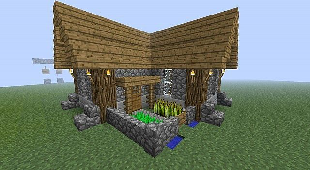 minecraft simple compact survival house minecraft pinterest minecraft minecraft haus. Black Bedroom Furniture Sets. Home Design Ideas