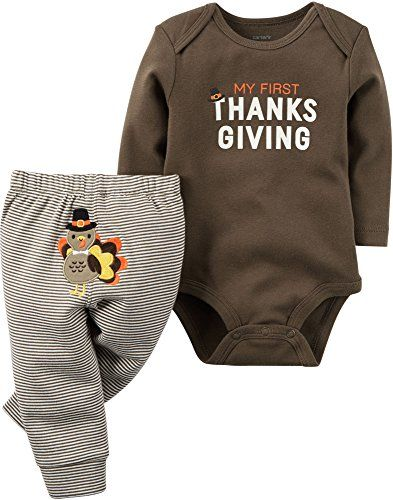 686379089 Carter's Unisex Baby 2 Pc Sets Brown 3 Months | baby clothes ...