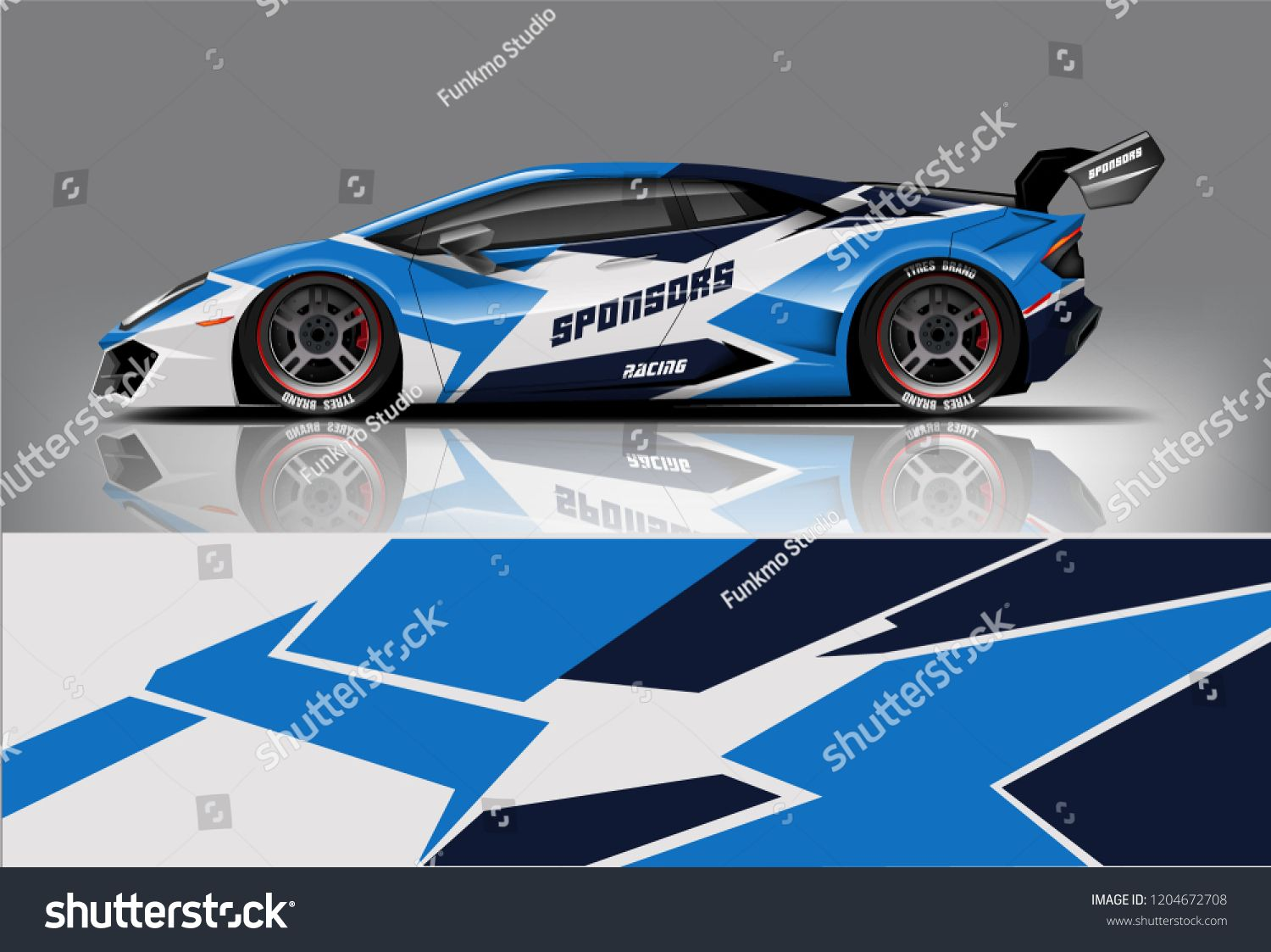 d34b341122 Racing car wrap design. sedan hatchback and sport car wrap design. abstract  background with vector.