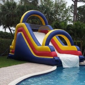 free shipping inflatable pool slides for swimming pool water games for sale