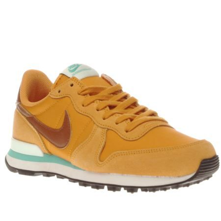 lowest price b957b 57499 womens nike yellow internationalist trainers