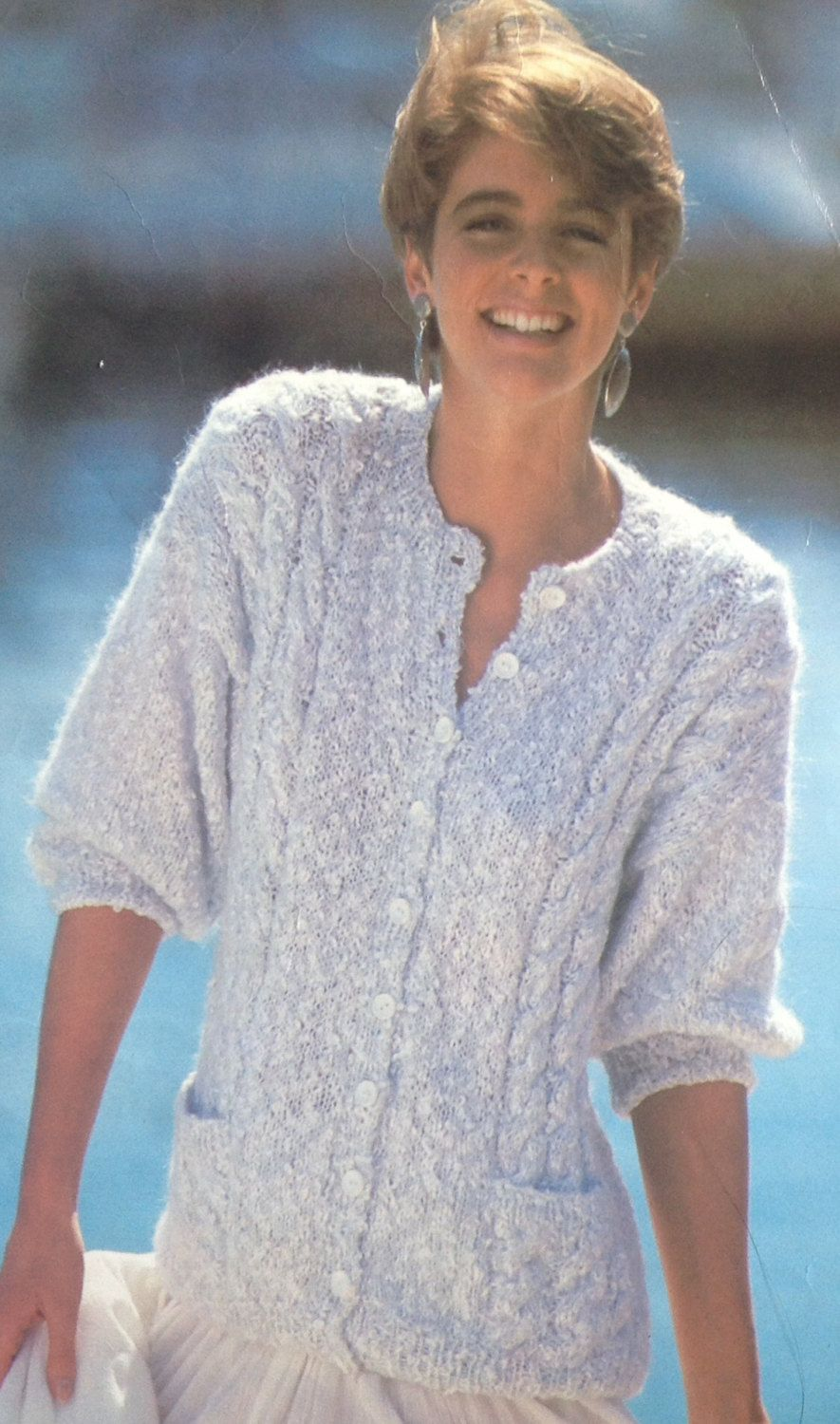 Ladieswomans mohair cable cardigan knitting pattern with pockets ladieswomans mohair cable cardigan knitting pattern with pockets size by makenshare on etsy bankloansurffo Choice Image