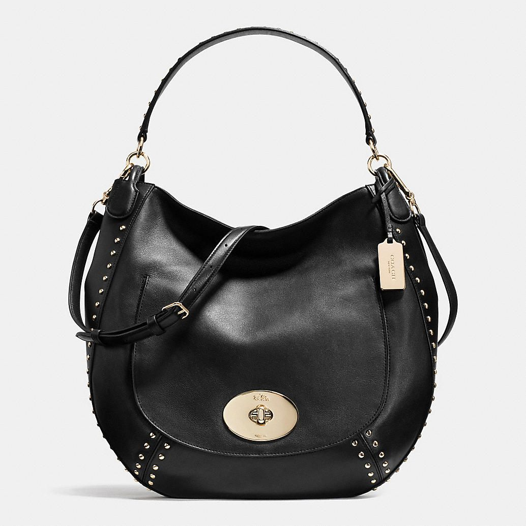 COACH CIRCLE HOBO IN STUDDED CALF LEATHER. Goodie BagsMost PopularCoach ... ee2e8c3b8f