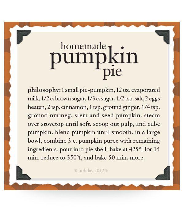 homemade pumpkin pie #recipe #philosophy #holiday