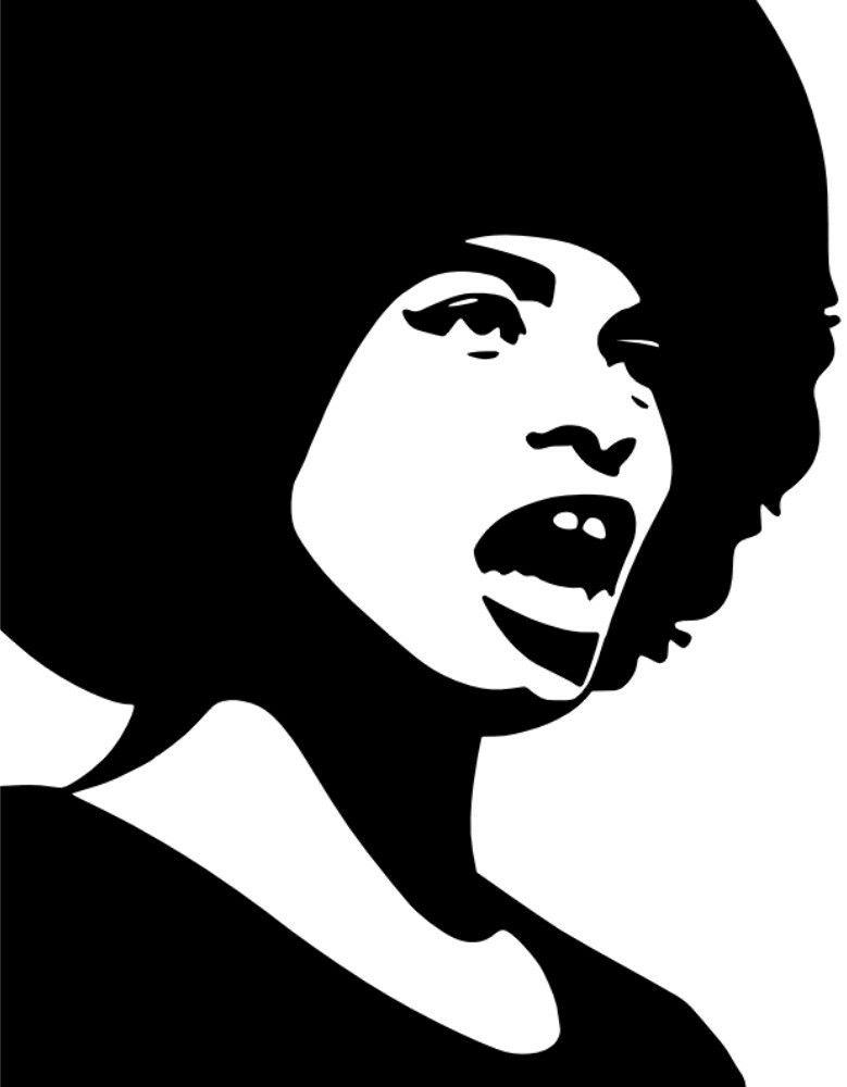 Angela Davis Angela Davis Activist Art Afro Art