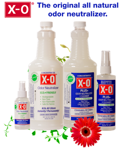 All natural XO Odor Neutralizer products make removing