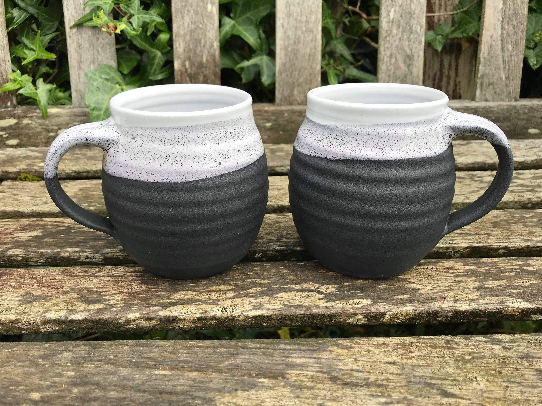 Excited to share this item from my #etsy shop: Ceramic Mug / handmade pottery / black & white / 300ml #ceramicshandmade #handmadeceramics #handmadepottery #ceramicsandpottery #handmadeceramic #handmade #ceramic #mug #ceramicmug