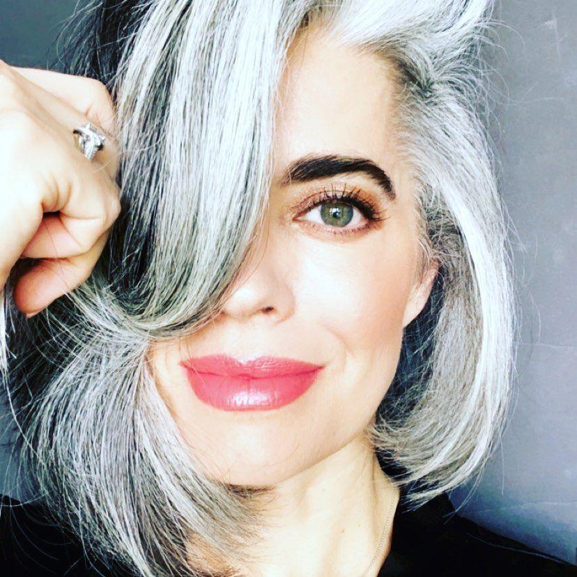 "Nikol Johnson Sanchez Beauty on Instagram """"Gray hair"