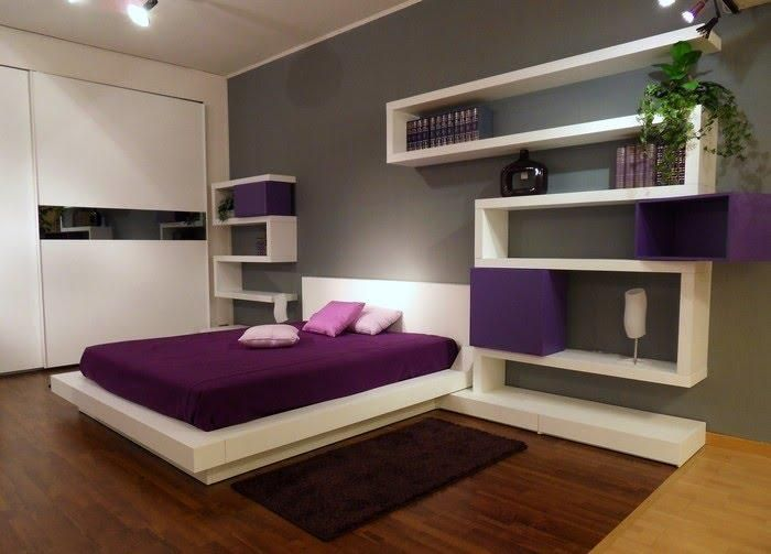Tablaroca d pinterest drywall small apartments and for Purple bedroom designs modern