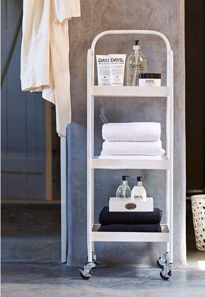 Op onze wishlist: de trolley | Organized bathroom, Bathroom ...