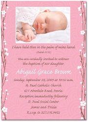 photo christening invitation for girl