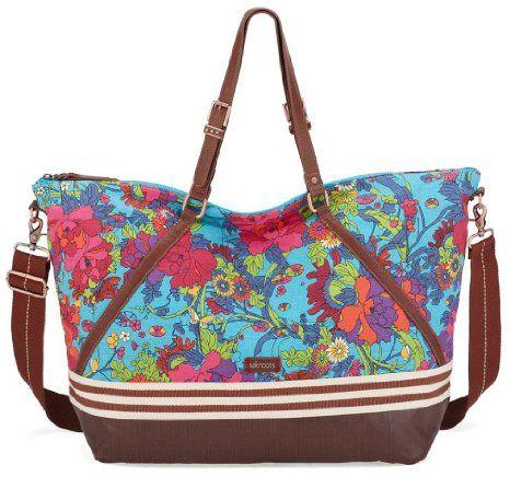07896df428d Sakroots Soft Duffel - Aqua Flower Power   Bags   Pinterest   Duffle ...