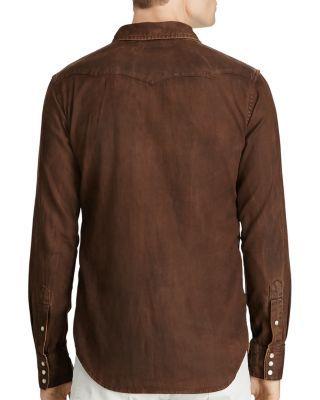 d0b6e84eca2 Polo Ralph Lauren Distressed Denim Western Regular Fit Shirt  198.00 Rich