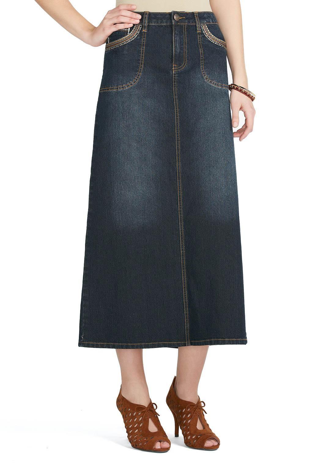 1480bd9b33d Cato Fashions Long Denim Skirts - Data Dynamic AG