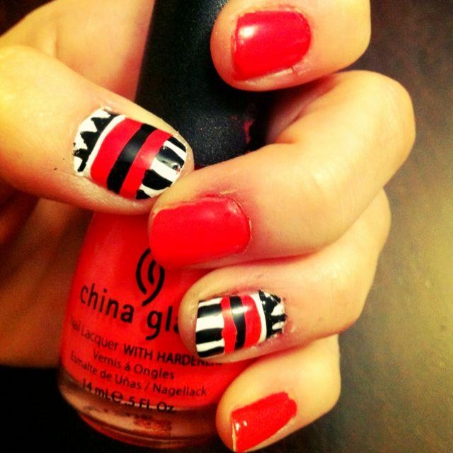 """China Glaze """"High Hopes"""" nail art"""
