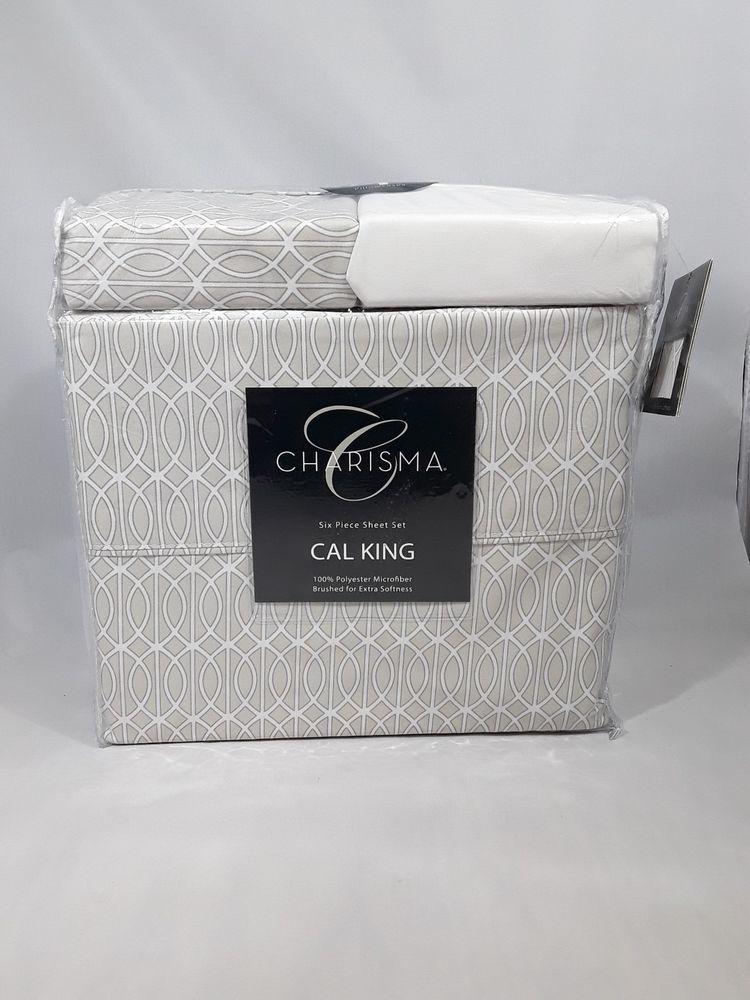 Charisma 6 Piece Sheet Set California King 100 Polyester Microfiber Lattice San