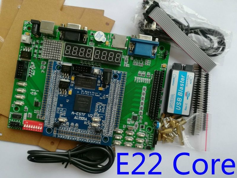 E22 core + bottom board fpga development board cyclone iv board