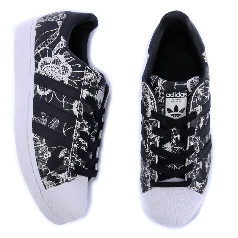16baf10be83 Tênis Adidas Superstar W Farm Core Black Core Black BA7584