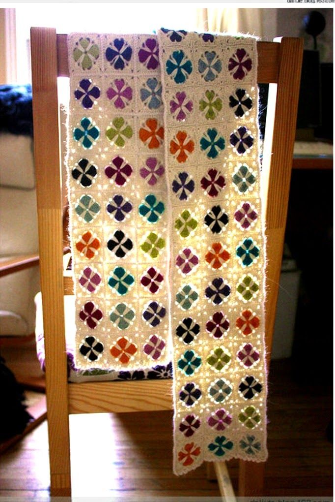 Little Treasures: How to Read Crochet Charts- Cathedral Window ...