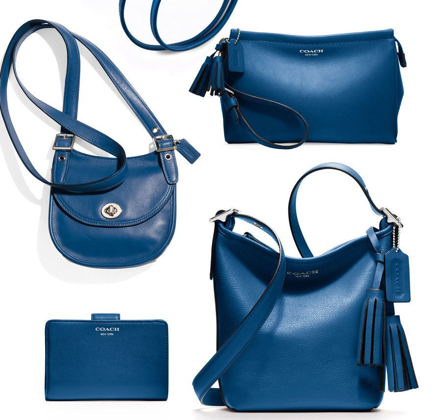 my wanted bad/color for fall ~S   Coach Legacy Collection in Cobalt Blue