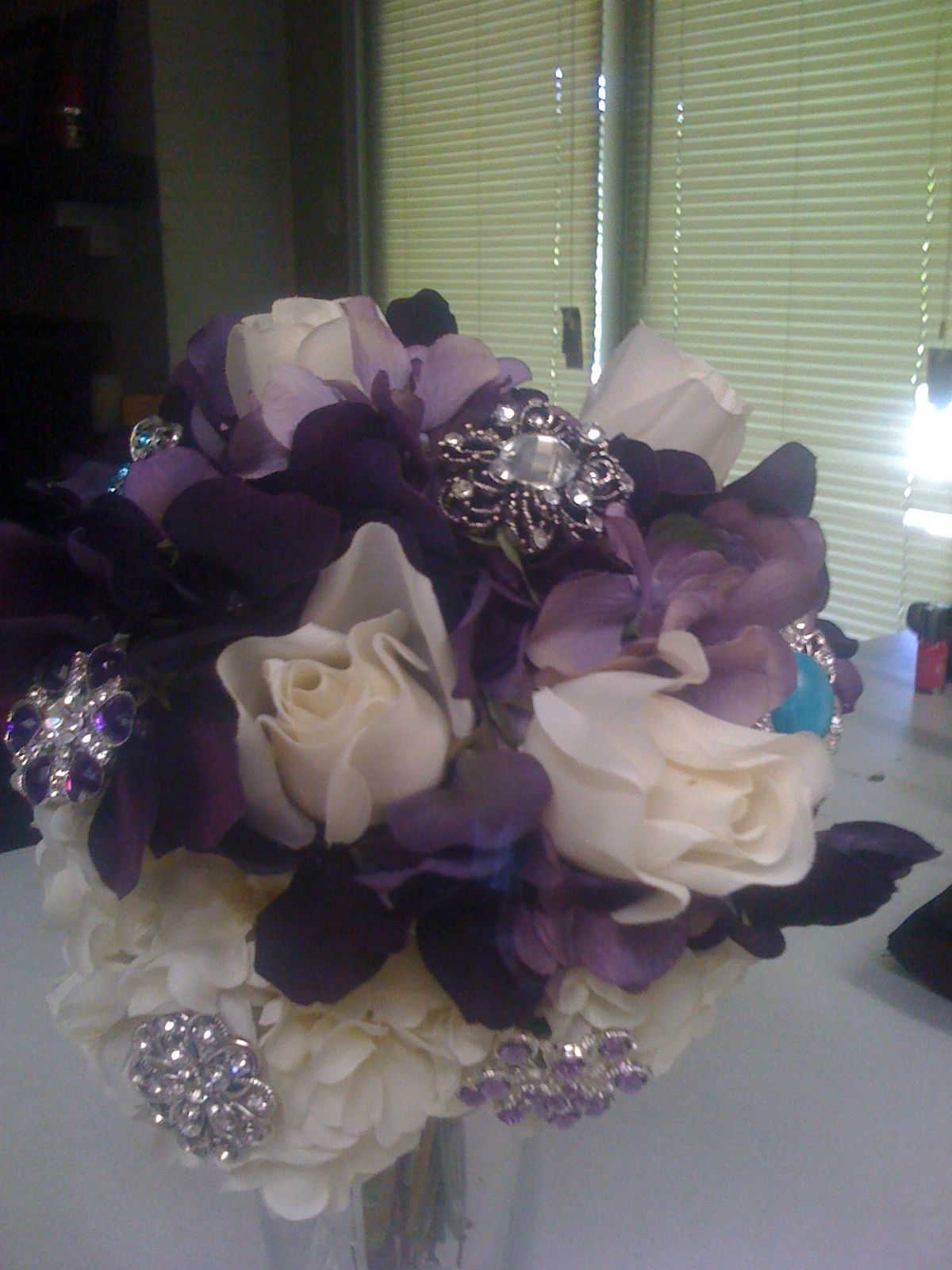 Wix silk flowers wedding planners and weddings silk flowers and brooches wedding bouquet by forever two hearts wedding planner dallas tx mightylinksfo