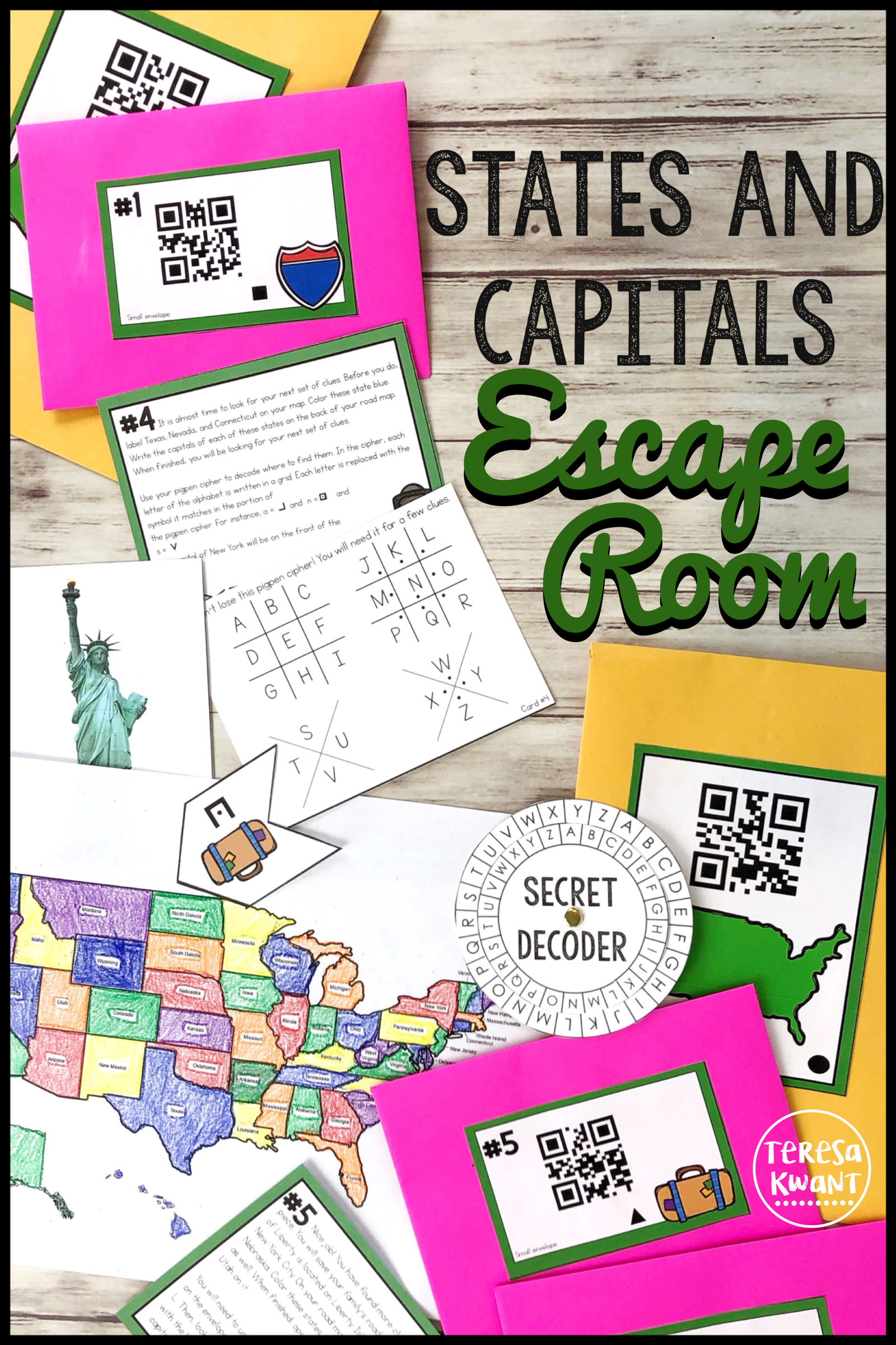 This States And Capitals Escape Room Is Perfect For Your