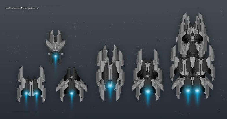 2d Spaceships Pack 1 Pack Spaceships Textures Materials Affen