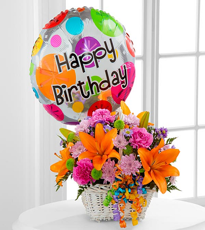 Birthday Flowers And Balloon Balloons Come Together In Our Lovely Combo Is The Best Surprise For Someone On Their