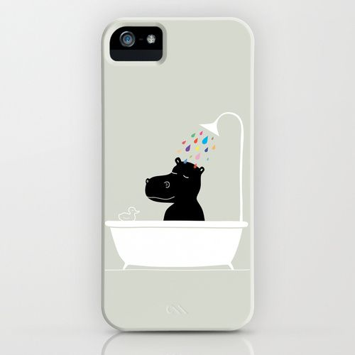 The Happy Shower Iphone Case Happy Hippo Android Phone Cases Iphone Cases Ipod Case