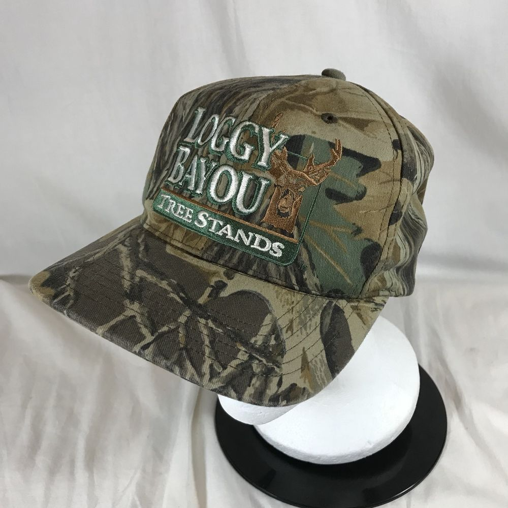 Loggy Bayou Tree Stand Camo Hat Embroidered Buck Snapback Hunting USA Made   Unbranded  BaseballCap d32ff84ee85