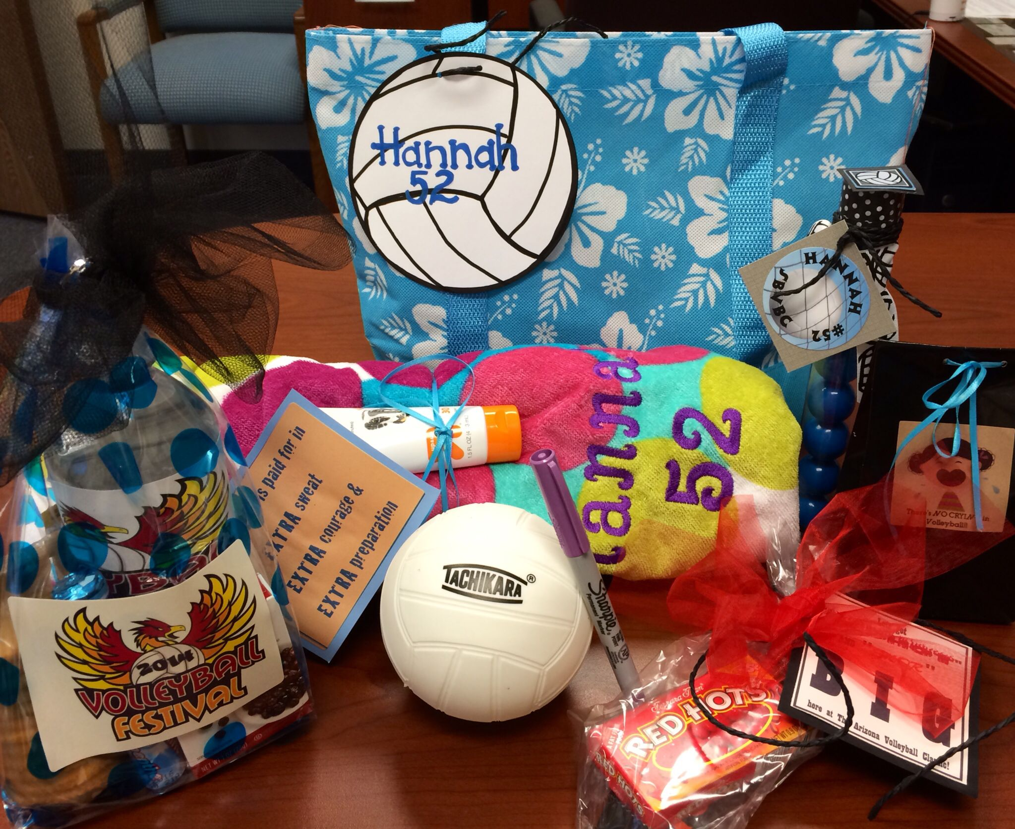 Volleyball Goodie Bag For Our National Tournament Volleyball Gifts Volleyball Mom Volleyball Snacks