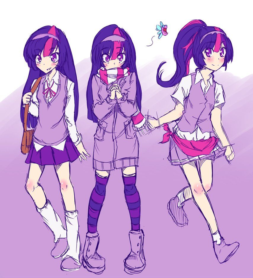 Twilight Sparkle Human by ~AppleStems on deviantART
