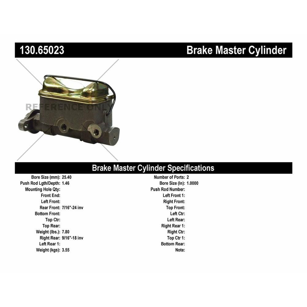 Centric Brake Master Cylinder in 2019 | Products | Brake