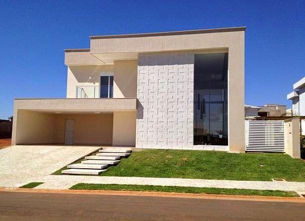 Fachadas de casas com escadas na frente veja entradas for Fachadas de casas modernas a desnivel