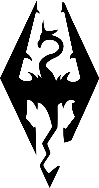 Skyrim Logo Vector By Theqz My Style Tattoos Symbols Skyrim