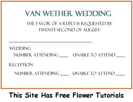 wedding rsvp sample