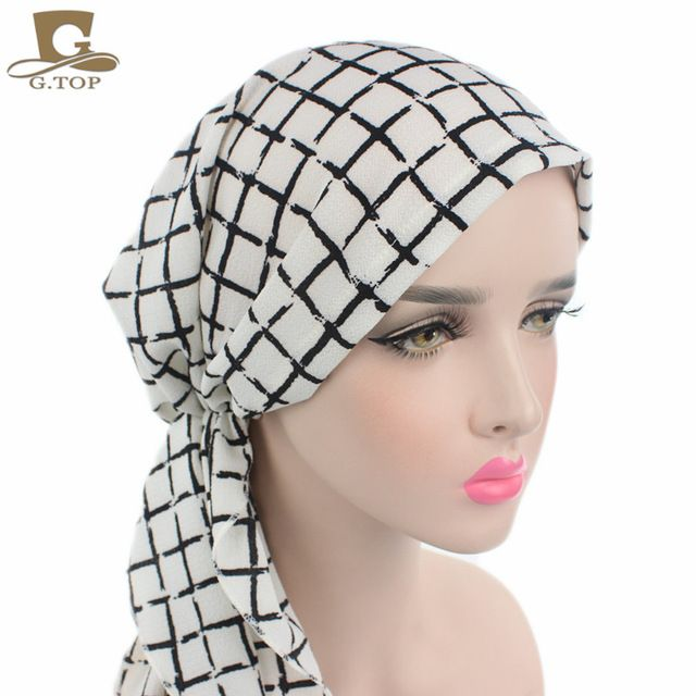Special offer New Women Head Scarf Chemo Hat Turban Pre-Tied Headwear  Bandana Tichel For Cancer Ladies Turbante just only  5.98 with free  shipping worldwide ... f7f763d09571